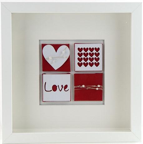Mini Wandbild Herz rot love