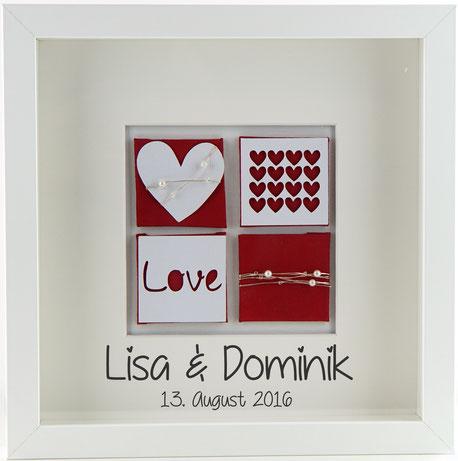 Hochzeitsbild Rot Wohnaccessoires Personalisierte Geschenke