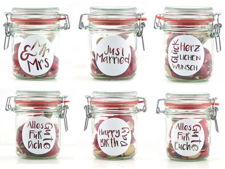 Geldgeschenk Gutscheinverpackung 3er Set (Mr&Mrs Just Married Herzlichen Glückwunsch Alles Gute für Dich Happy Birthday Alles Gute für Euch)