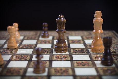 Symbolisch für Strategien - das Schachbrett