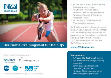 Flyer für Qv-Trainer Pnn AG