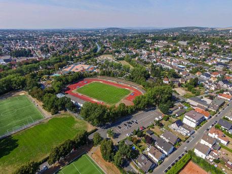 Luftaufnahme vom Herforder Stadion
