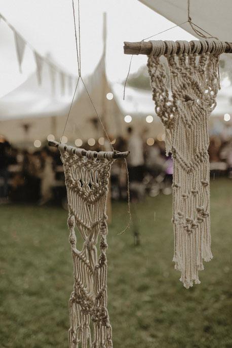 Boho Hochzeit Dekoration - Hochzeit unter einem Zelt