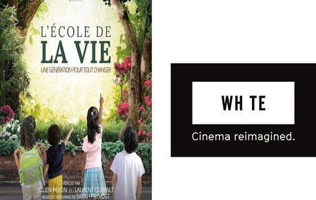 Projection du Film L'école de la vie, une génération pour tout changer le mardi 15/10 au White Cinéma, Shopping Docks