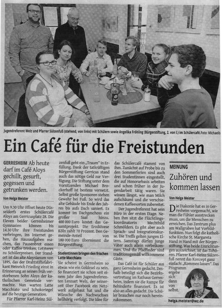 Westdeutsche Zeitung, 19. April 2016