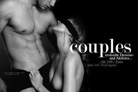 Aktfotografie für Paare und erotische Paarfotos als Gutschein verschenken