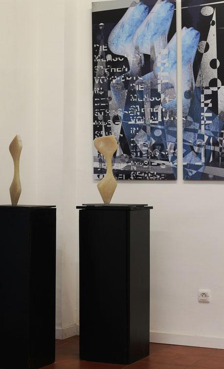 Heidrun Feistner: Ich hör auf die Zeichen / Ich seh auf die Zeichen die zuzeiten geschehn / Ausstellung Madrid Eka& Moor / Foto HF