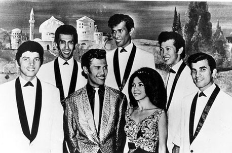 The Tielman Brothers with sister Jane and Alphonse Faverey (left)(1963)
