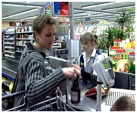 Edeka Markt Meyer Neuenkirchen Kassenbereich