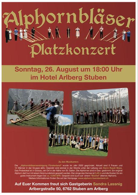 Arlberg Stuben Alphornbläser