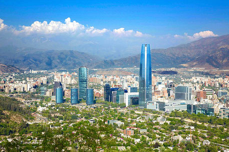 Santiago de Chile and the Andes