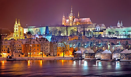 Prague in Winter Czech Republic Elbe cruise river Jewish tour