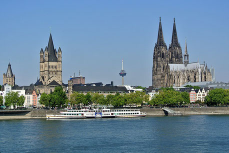 View on the City Centre Cologne Germany cruise Jewish tour