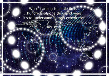 While learning is a little time, hundreds of, one thousand years, it's to understand human experience. Rousseau