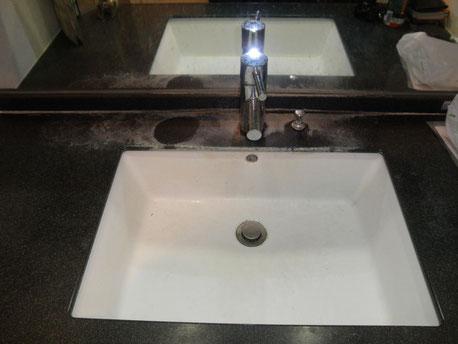 洗面所クリーニング前1