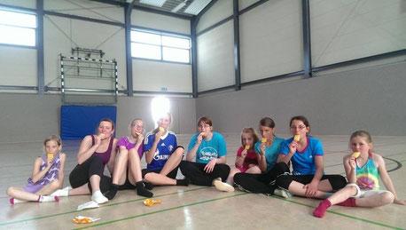 Juli 2015: Bei 35° haben sich die mutigen Sportlerinnen ein Eis verdient!