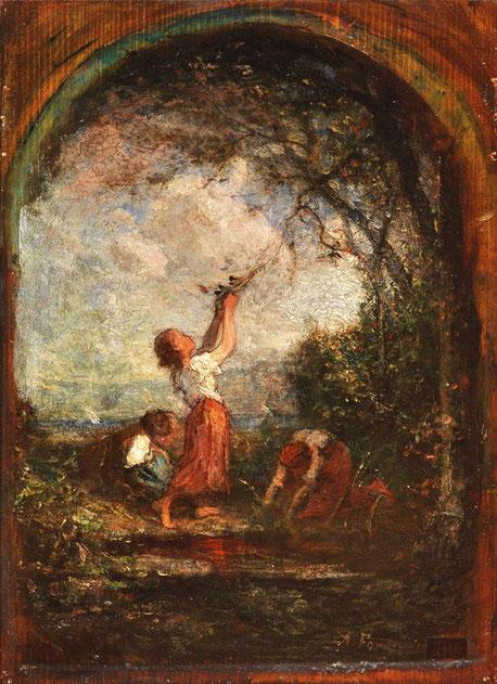 """Antonio Fontanesi, """"Presso il fonte"""" (1867)"""