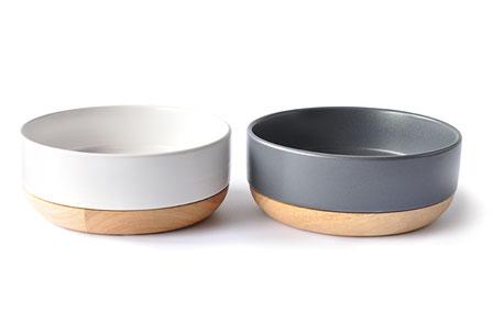 hundestrand Hundenapf Keramik 51DN weiß grau holz modern 51DegreesNorth