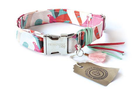 Hundestrand Hundehalsband Halsband Flamingo rosa Occitanie Frimousse Dog