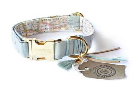 Hundestrand Hundehalsband Halsband Weltkarte blau  O´Neill O Neill Frimousse Dog