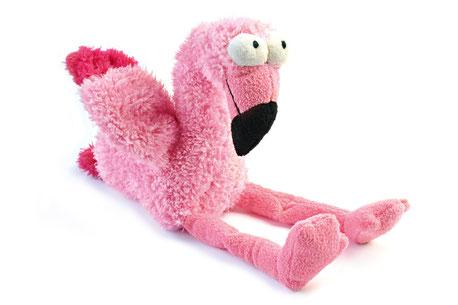 Hundestrand Hundespielzeug Stoffspielzeug Flo der Flamingo Fuzzyard