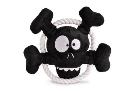 Mild and Pepper Hundespielzeug Fun Skull Seil Plüsch