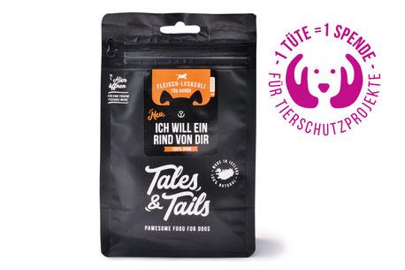Hundestrand Leckerlies Hundesnack Snacks natürlich Rind Monoprotein Tales und Tails