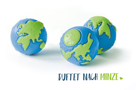 Hundestrand Hundespielzeug Ball pink blau Orbee Tuff Minze Planet Dog