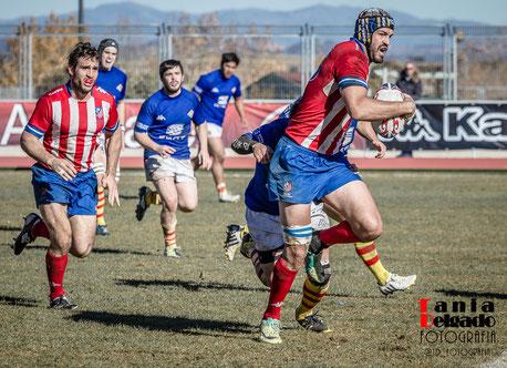 Fotografía Deportiva, Rugby. En la foto, Javier Canosa, jugador del Rugby Atlético de Madrid