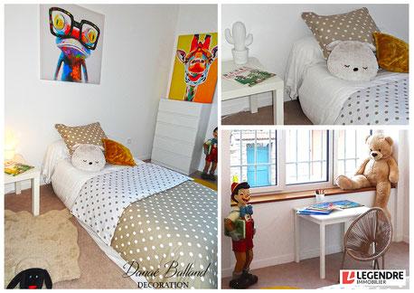 Appartement témoin décoré chambre