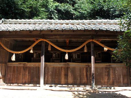 熊野神社・金毘羅大権現・進雄神社・秋葉神社・稲荷大明神・山神社