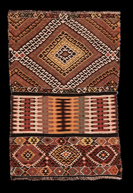 Teppich. Zürich. Handgewebter Teppich, Kelim. Vintage kilim Anatolie, Suisse, Zurich