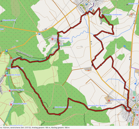 "GPXTrack 11 Km Wäller-Tour ""Hohe Hahnscheid"""