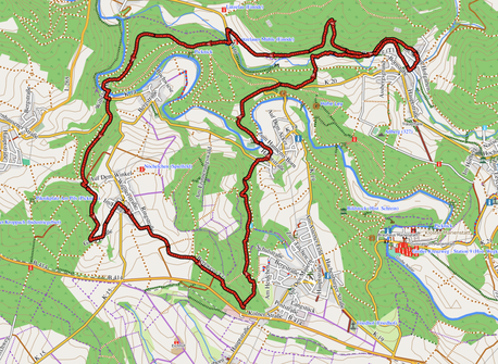 "GPXTrack ""17 km 2-Täler Wanderung"""