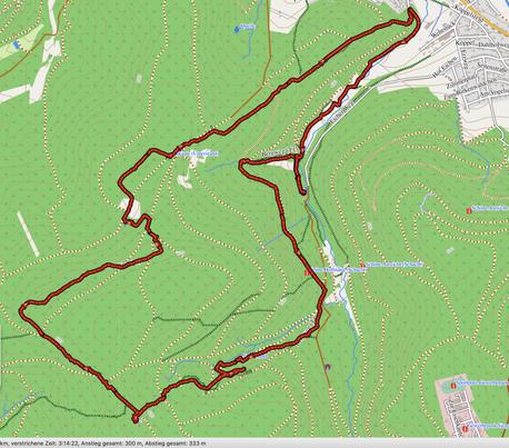 "GPXTrack ""11 Km Trödelsteinpfad"""