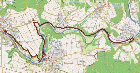 """GPXTrack """"13 km Natura Trail Marmor am Fluss"""""""