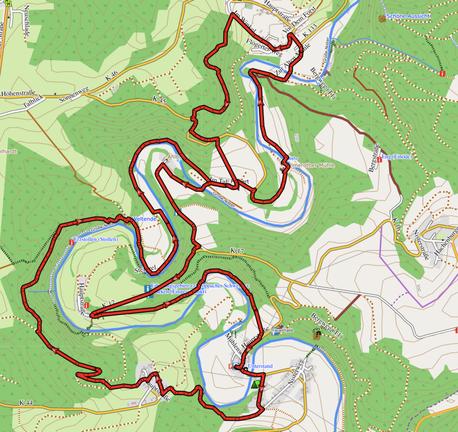 """GPXTrack """"13,5 km im Herzen der Kroppacher Schweiz.gpx"""""""