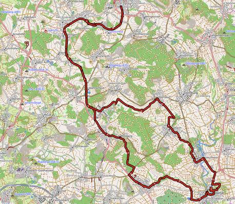 GPXTrack 54 km Westerburg - Hadamar