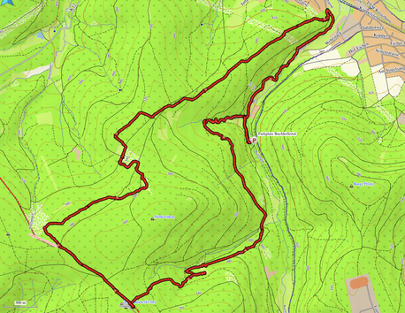 """GPXTrack """"13 km """"trödeln"""" auf dem Trödelsteinpfad"""""""