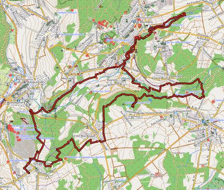 """GPXTrack """"33 km im Herzen des Basalts"""""""