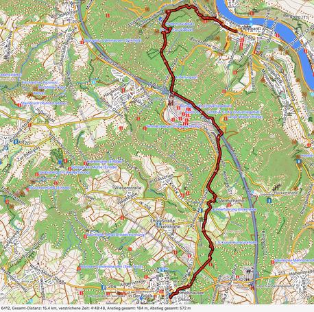 GPXTrack Hunsrückbahn Wanderweg