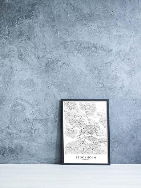 Karten als Skandinavische Poster