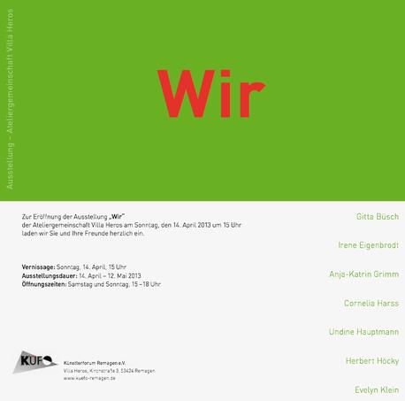 Ausstellung der Ateliergemeinschaft Villa Heros 14.04-12.05.2013