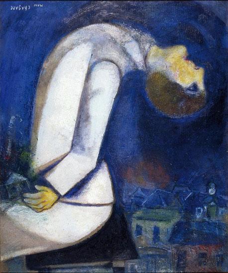 L'homme à la tête renversée - Marc Chagall