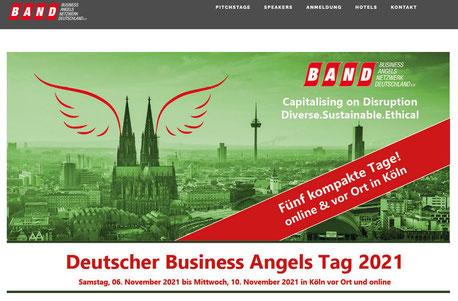 Screenshot Webseite zu den Deutschen Business Angel Tagen 2021