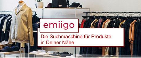 emiigo - die Suchmaschine für den lokalen Einzelhandel