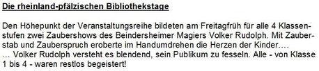 Amtsblatt Verbandsgemeinde Heßheim vom 05.11.2010 - Magier, Zauberer, Zauberkünstler, Ballonkünstler, Ballonentertainer, Ballonmodellierer Volker Rudolph