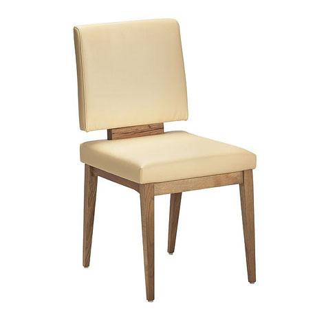 vintage Stuhl aus eiche und Echtleder