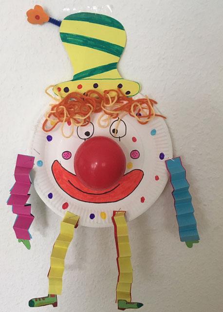 Pappteller Clown Ein Tolles Diy Zu Fasching Karneval