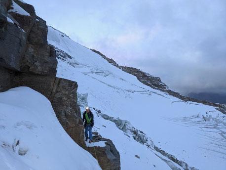 Gran Paradiso, Nordwand, Nordwestwand, Aostatal, Rifugio Federico Chabod, Winterraum, Valsavarenche, Val Aosta, Aostatal, 4000er, Italien
